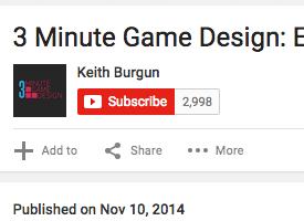 3 minute game design