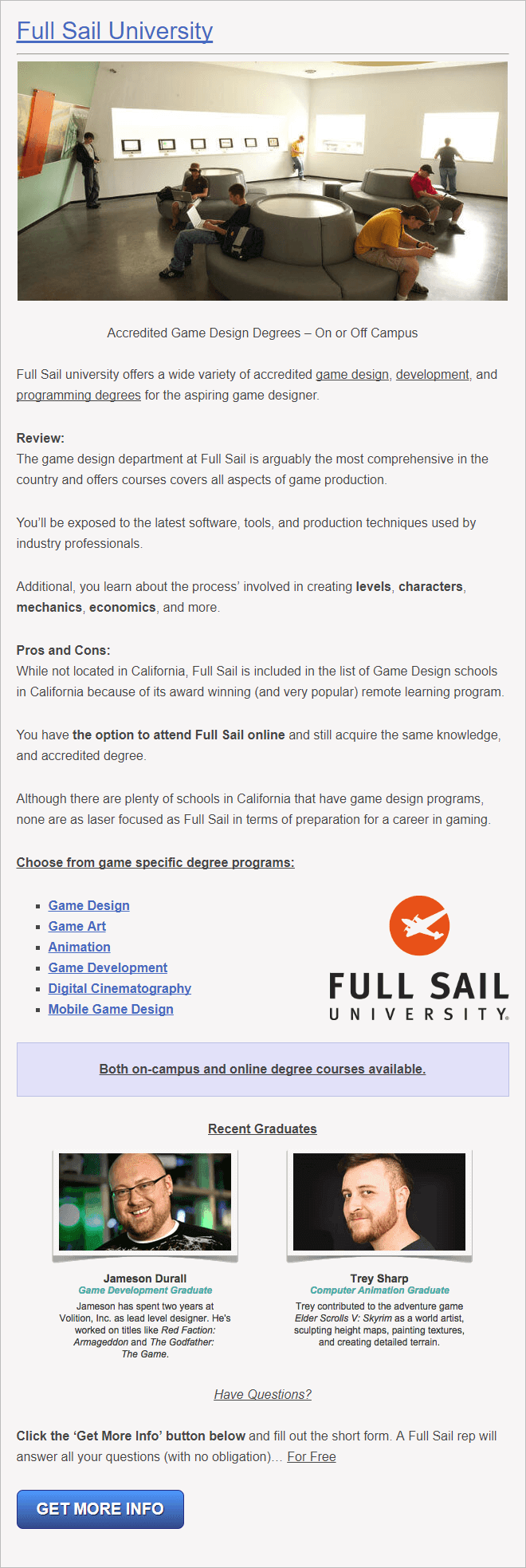 California University for Game Design