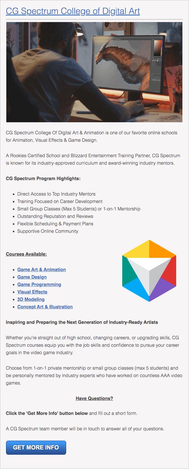California's Online Animation School