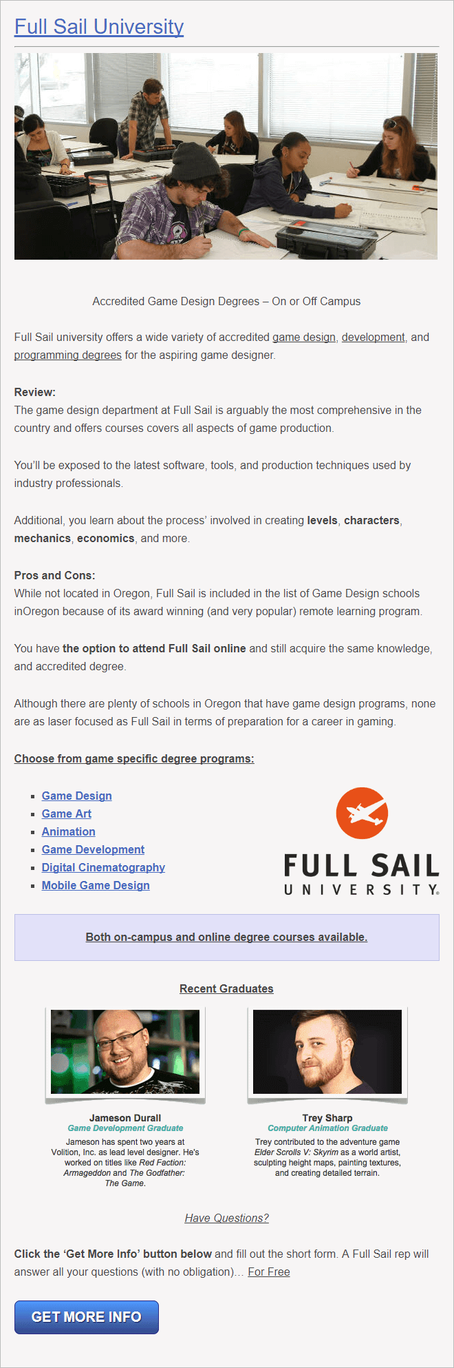 Oregon University for Game Design