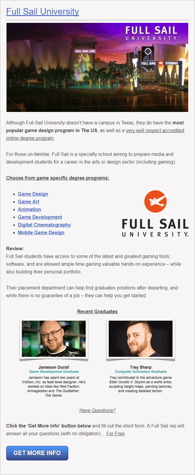 Texas University for Game Design