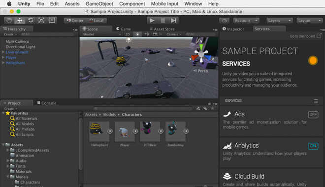 Unity Game Development Software