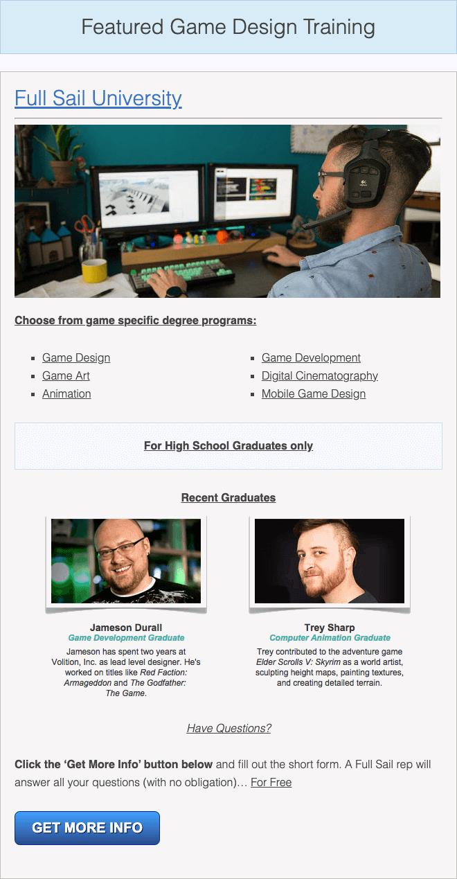 choose a game design major
