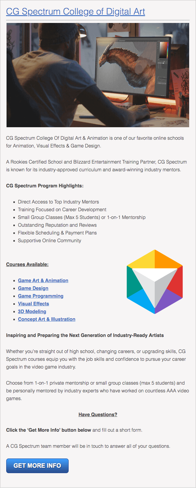 Digital Arts and Animation Schools in Indiana