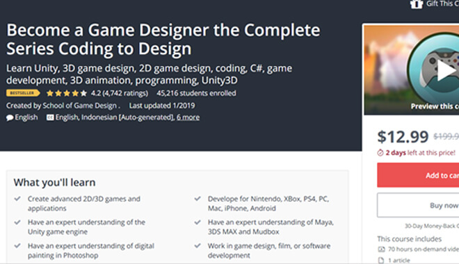 Udemy - Become a video game designer