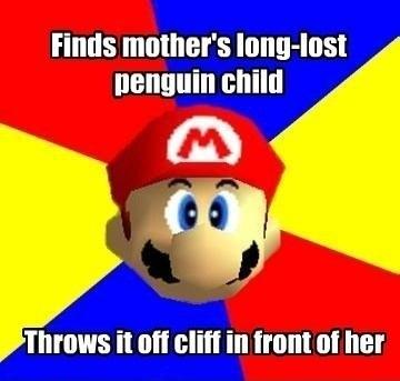 mario memes funny super meme logic bros gaming nintendo games 64 kart funniest hilarious ever gamingbolt penguin source intended pun
