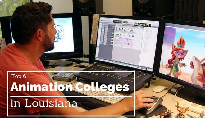 top louisiana animation colleges