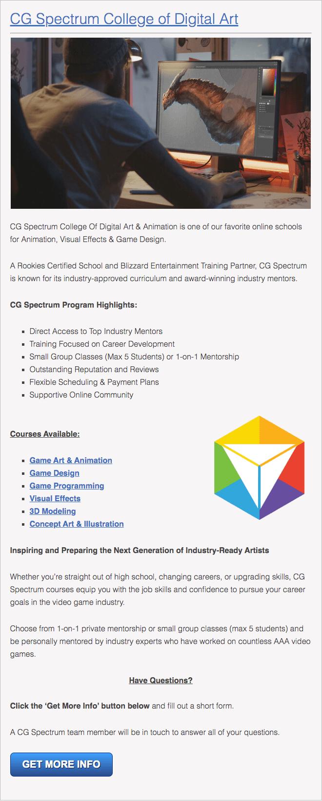 Ohio Online Animation School
