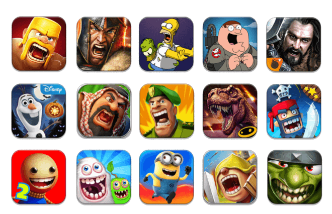 different game icons