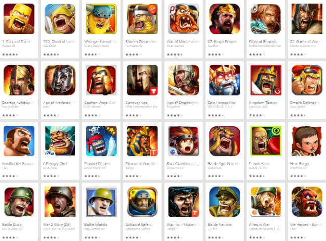 yelling warrior game icons