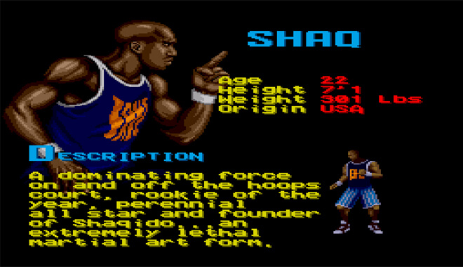 Shaq Fu Video Game 1994