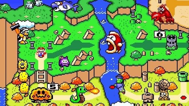 Mario's debut on SNES
