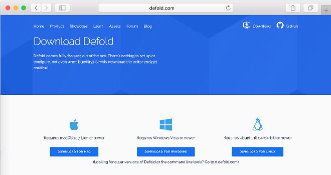 Install Defold