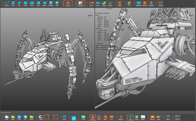 free 3D polygon modeler