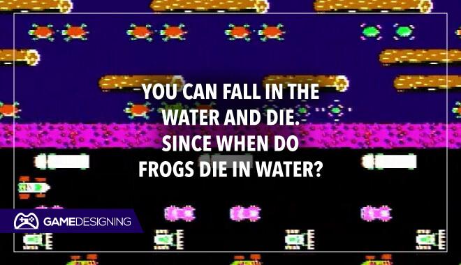 Frog dies in water