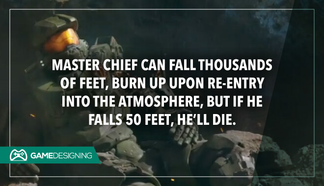 Master Chief falls and dies
