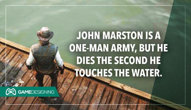 John Marston drowns