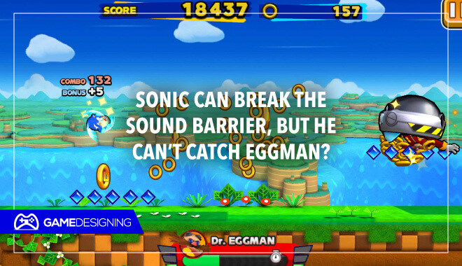 Sonic chasing Eggman