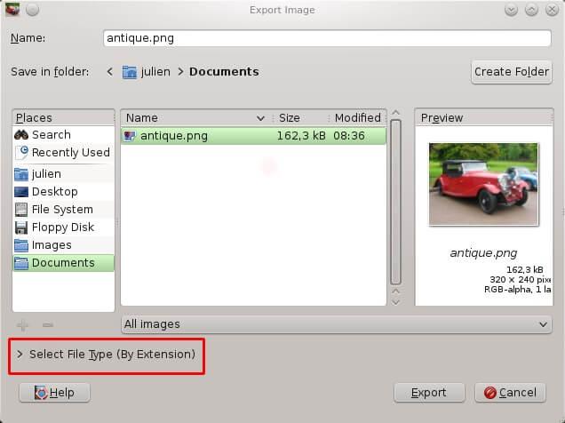 Gimp - File Size Reduction