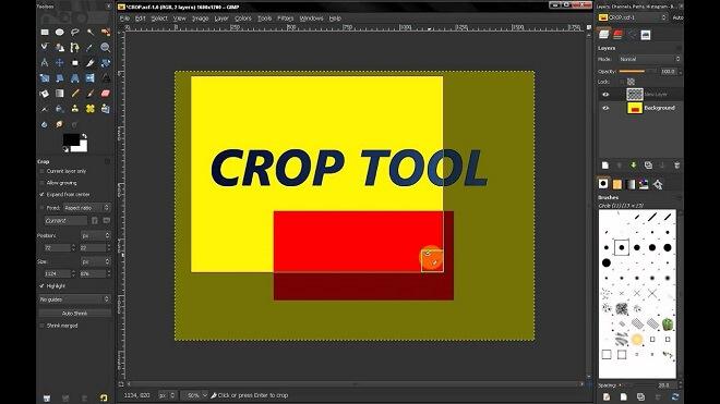 Gimp - Image Cropping