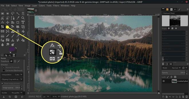 Gimp - Image Rotation