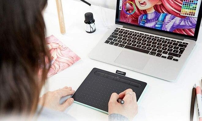 Wacom Intuos SM (CTL4100) Drawing Tablet
