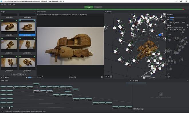 Meshroom 3D results