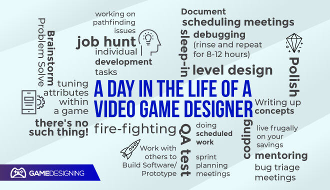 A typical day of a video game designer