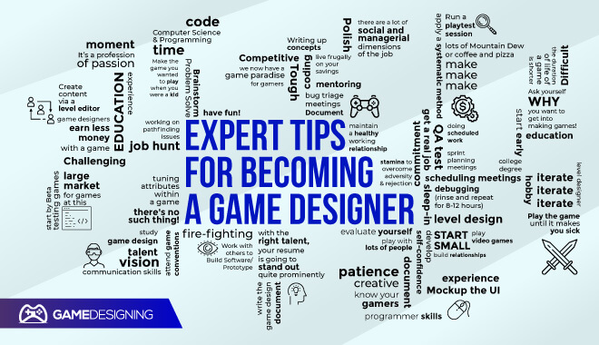 How to become a game designer according to the experts
