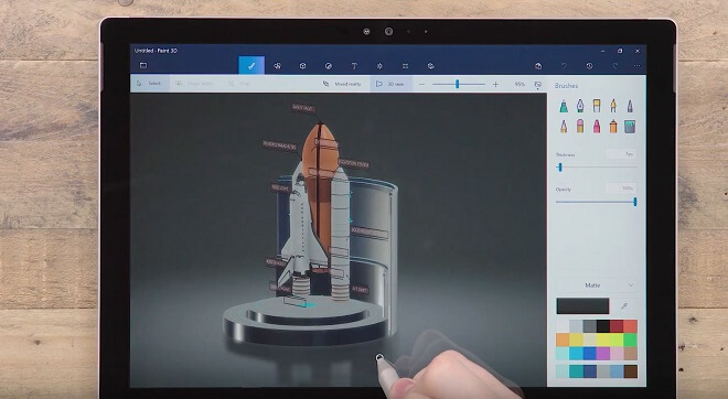 Free drawing software - Microsoft Paint 3D