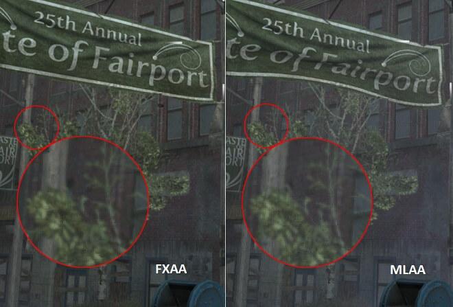 FXAA vs MLAA