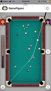 iMessage Game - 8 Ball Game