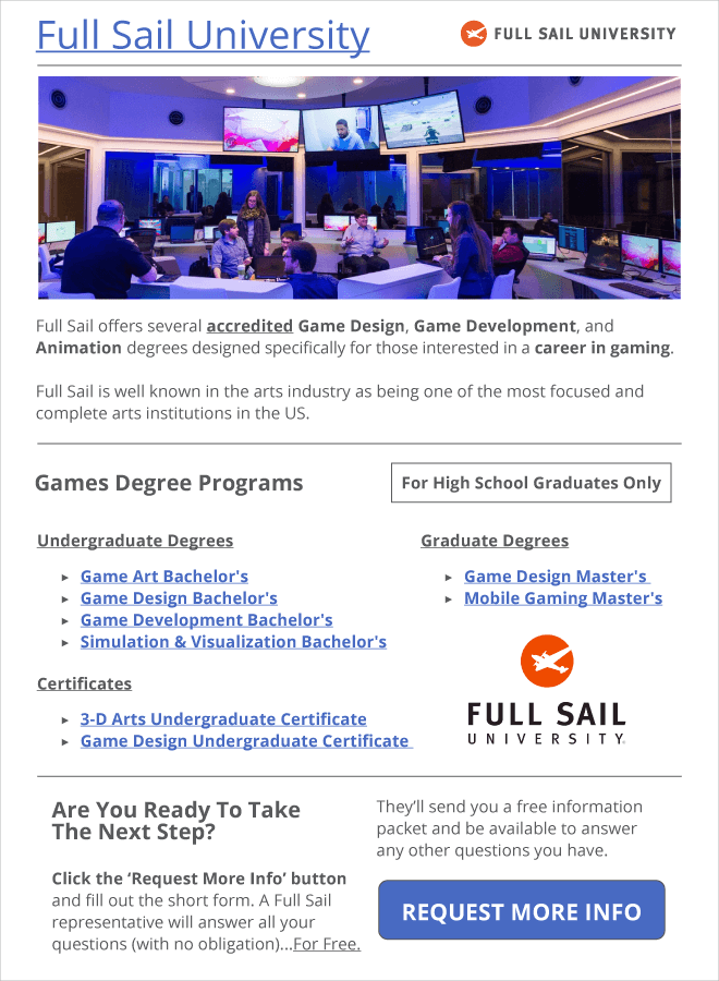 Full Sail University - Become A Video Game Tester
